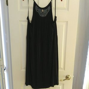 Lane Bryant Halter Neckline Embellished Midi Dress
